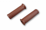 TPR Soft Grips CHOCOLATE: Bonneville/T100/Thruxton/Scrambler.  25mm/ Inch Diameter Bars.
